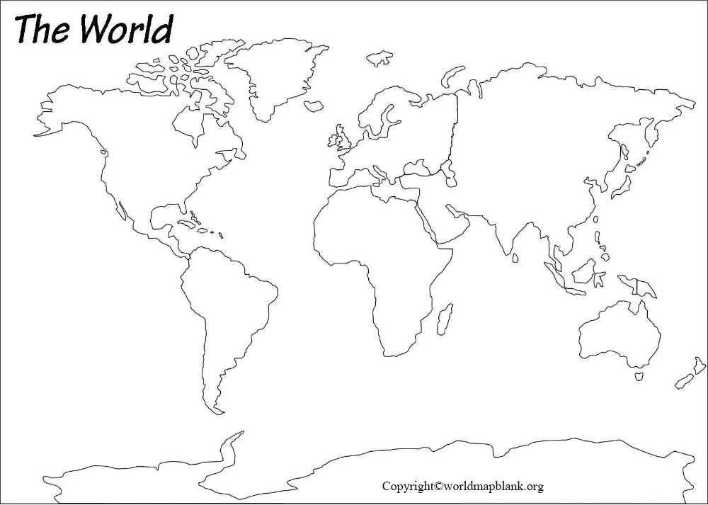 Blank Map of World - Outline