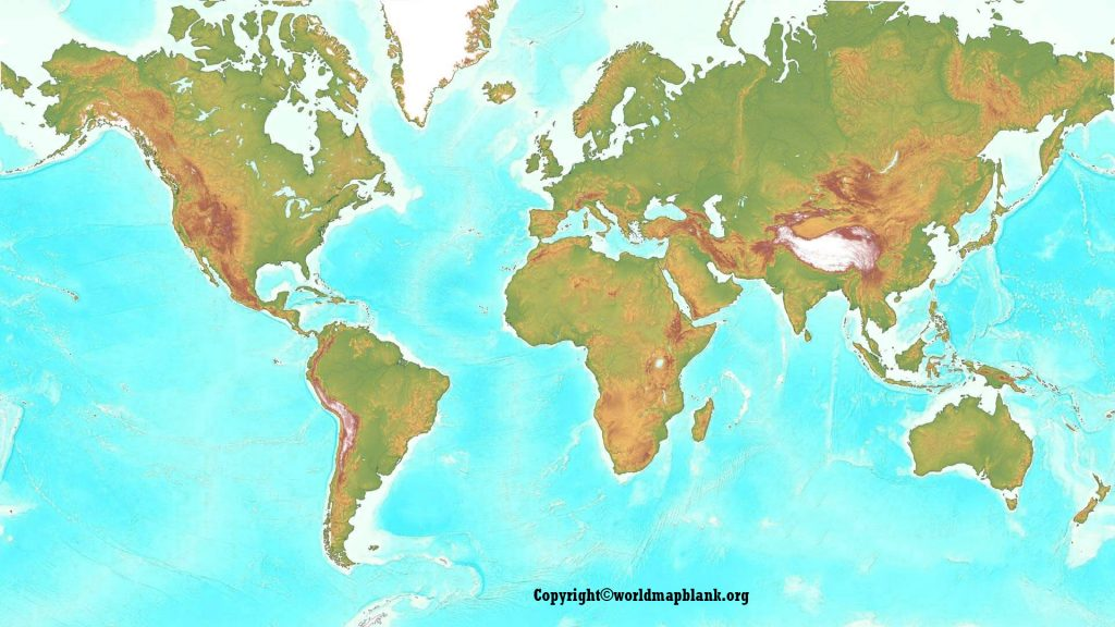 Geographical Map of World
