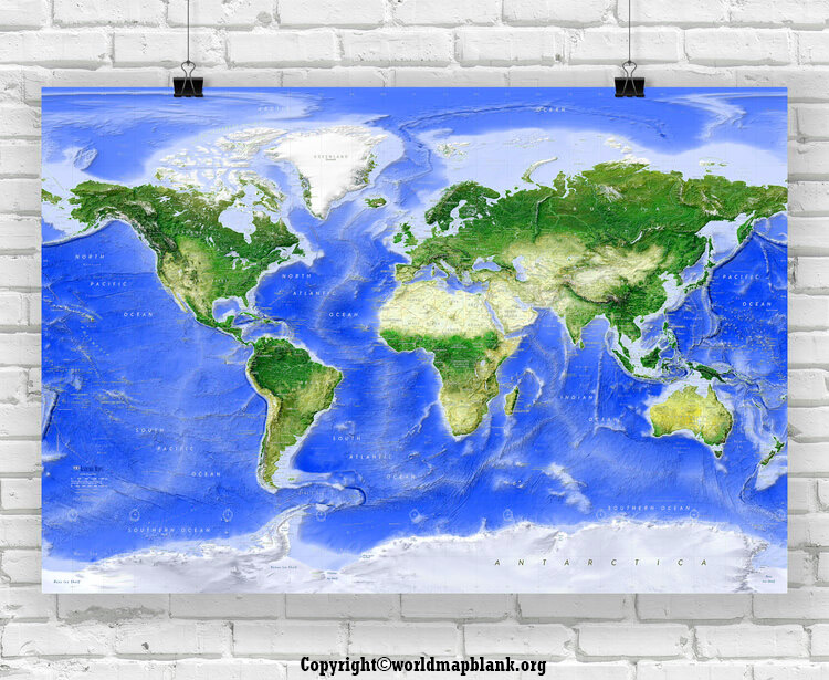 World Map Poster For Wall Hanging