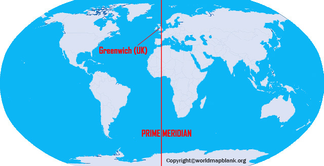 International Date Line and Prime Meridian Map