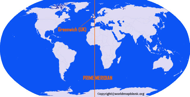 Equator and Prime Meridian Map