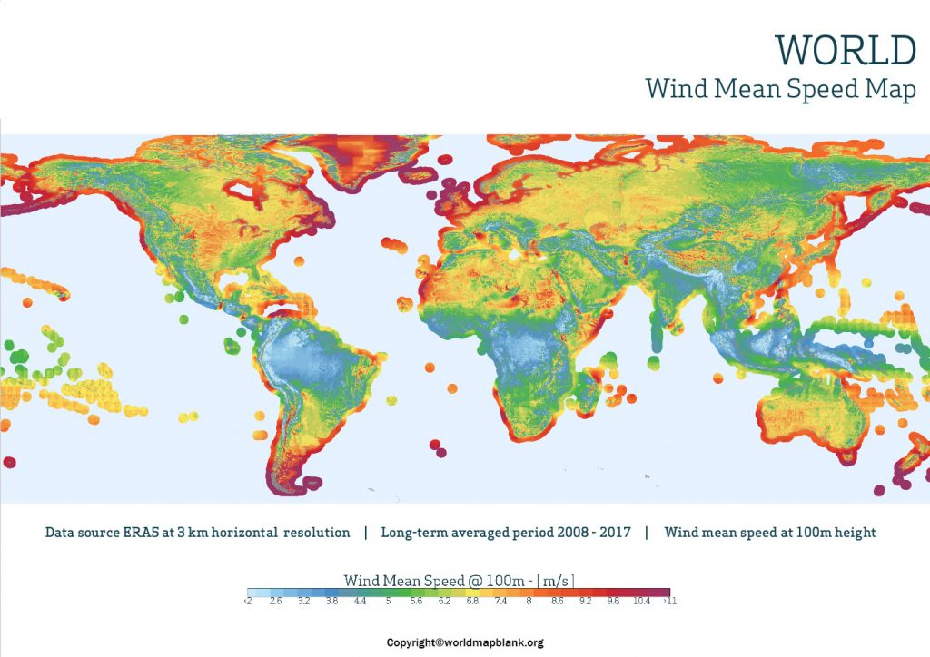 Current Wind Map of World