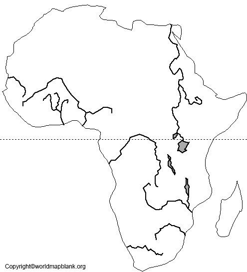 Blank Map of Africa – Outline