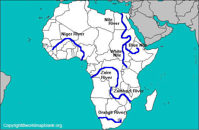 Map of Africa Rivers