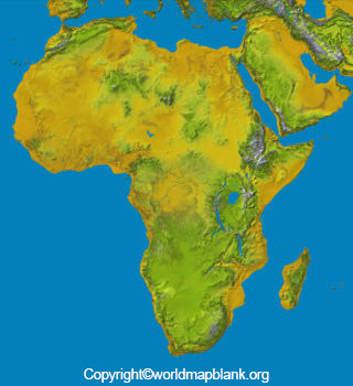 Africa Mountains Map